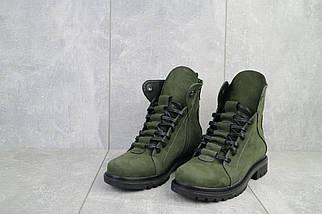 Женские ботинки кожаные зимние зеленые Vikont 7-7-32, фото 3