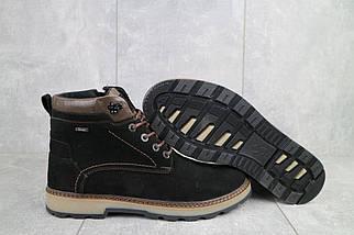 Мужские ботинки замшевые зимние черные Yuves 774, фото 2