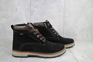 Мужские ботинки замшевые зимние черные Yuves 774, фото 3