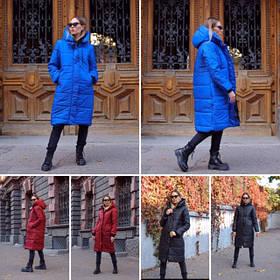 Зимняя женская куртка на синтепоне однотонная МА246-1 ма