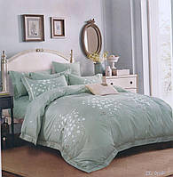 Ментоловое постельное белье с нежными цветами с люкс сатина