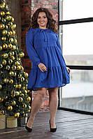 Женское свободное платье больших размеров 50-58