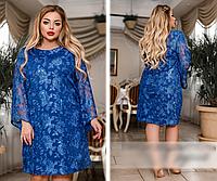 Женское платье гипюровое с вышитой пайеткой, с 48-66 размер, фото 1