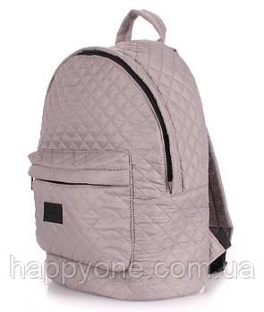 Женский стеганый болоньевый рюкзак The One (серый)