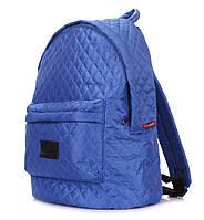 Женский стеганый болоньевый рюкзак The One (синий)