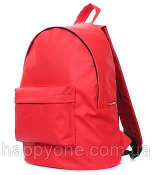 Женский рюкзак Poolparty (красный) искусственная кожа