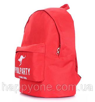 Молодежный рюкзак Poolparty Oxford (красный)
