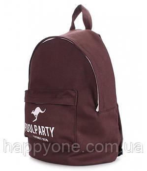 Молодежный рюкзак Poolparty Oxford (коричневый)