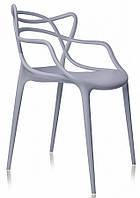 Крісло пластикове Bari, СІРИЙ 35, фото 1