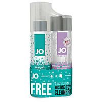 Набор смазка плюс клинер бесплатно: System JO Agape (120 мл) + MistingToy Cleaner (120 мл)