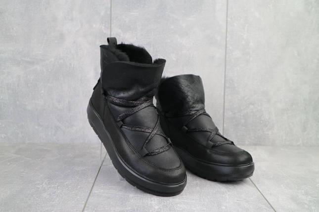 Женские ботинки кожаные зимние черные BENZ 70202, фото 2
