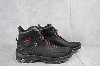 Мужские ботинки кожаные зимние черные-красные Gepard 222, фото 3