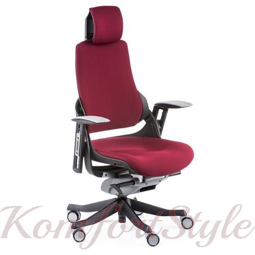 Кресло офисное Wau burgundy fabric  (E0758)