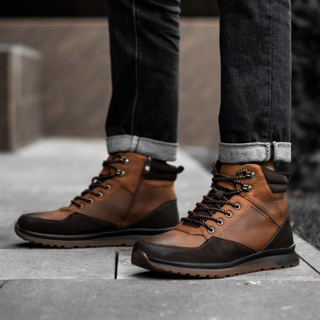 Черевики чоловічі високі коричневі