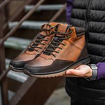 Черевики чоловічі високі коричневі, фото 2