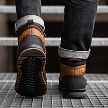 Черевики чоловічі високі коричневі, фото 3