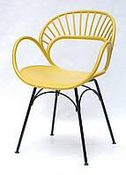 Крісло пластикове FLORI ЖОВТИЙ 11, фото 1
