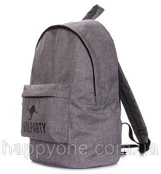 Молодежный повседневный рюкзак Poolparty Ripple (серый)