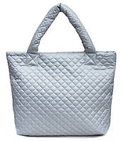 Дутая стеганая женская сумка Poolparty (серая)