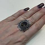 Кольцо с раух-топазом овал дымчатый кварц в серебре 18.5 размер. Кольцо с камнем раух-топаз Индия, фото 4
