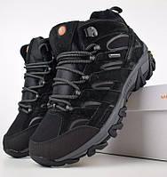 Зимние мужские ботинки Merrell Moab высокие черные 41-46 рр. Живое фото. Реплика