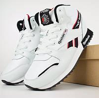 Зимние мужские кроссовки Reebok высокие белые 41-46р. Живое фото (Реплика ААА+)