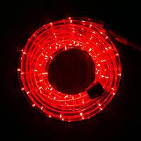 Дюралайт 10м готовый комплект с вилкой, светодиодная гирлянда шланг, цвет красный