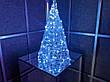Елка металлическая с гирляндой, железная, лофт, loft, питание от сети 220ВТ, 100 LED, 45 см., настольная., фото 3