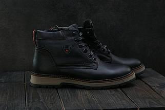 Мужские ботинки кожаные зимние черные Brand Б-27, фото 2