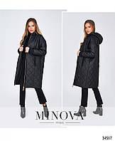 Женская куртка на синтепоне черного цвета