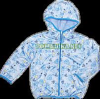 Детская осенняя, весенняя куртка с капюшоном для мальчика на флисе и синтепоне, р. 86, 92, 98, 104 Украина М86
