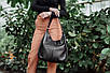 Женская кожаная сумка 14 черный флотар 01140101, фото 7