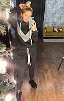 Костюм женский спортивный утепленный, толстовка и штаны, фото 1
