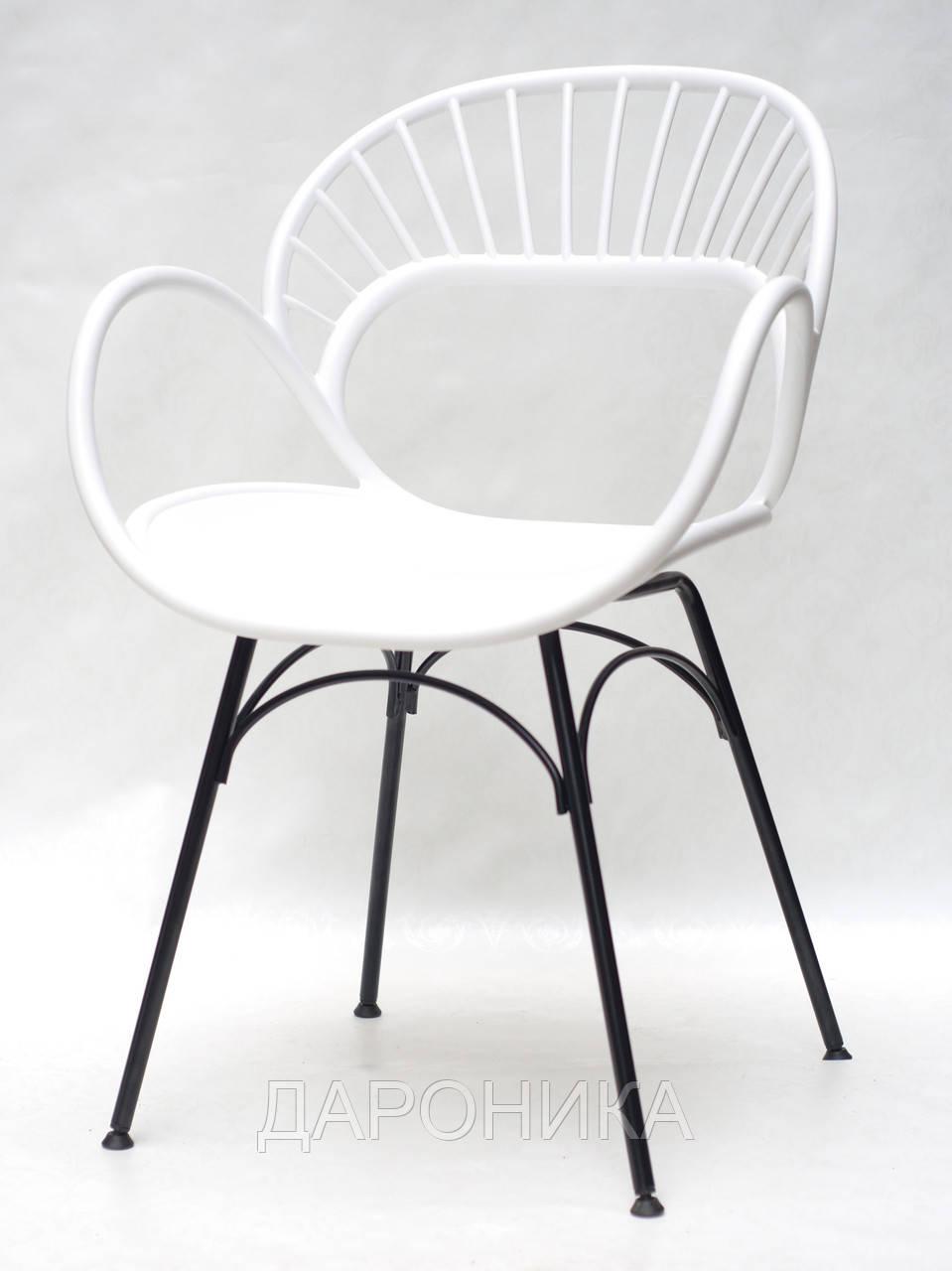 Крісло пластикове FLORI 07 БІЛИЙ