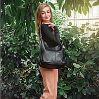 Женская кожаная сумка 14 черный флотар 01140101
