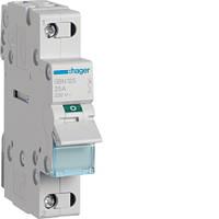 Выключатель нагрузки Hager 1-пол., 25А/400В, 1м SBN125 (мини-рубильник)