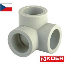 Угловой тройник 25 для полипропиленовых труб KOER