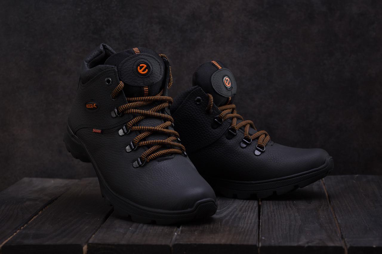 Мужские ботинки кожаные зимние черные Yavgor 552