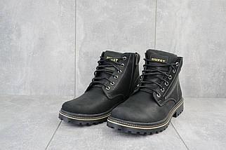 Мужские ботинки кожаные зимние черные Rivest R, фото 3