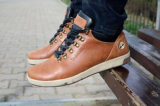 Мужские ботинки кожаные зимние рыжие Yuves 773, фото 2
