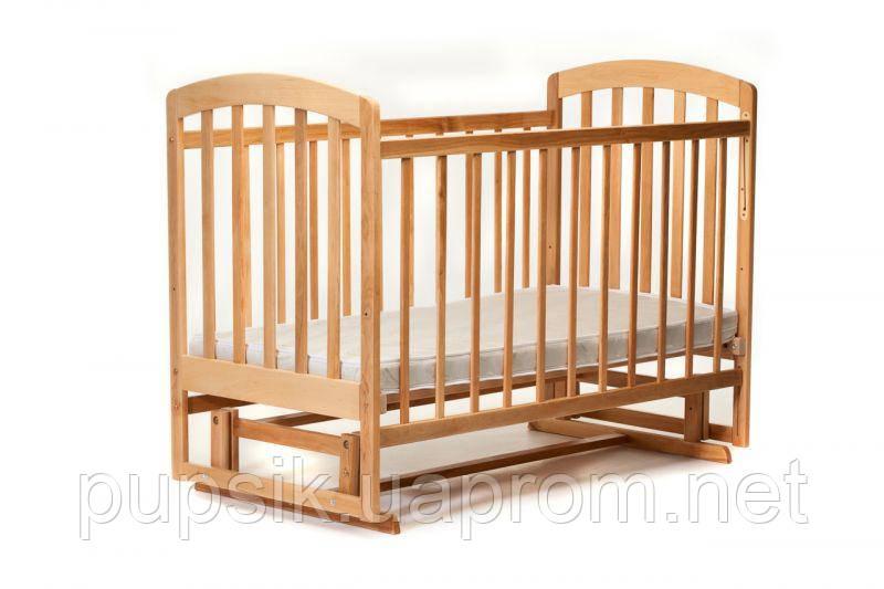Детская кроватка Ласка-М LAMA поперечный маятник (шиповое соединение)