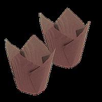 Формочки Тюльпан коричневый (d =50mm.h=60/80mm) (150шт) уп