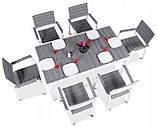 Набір садових меблів Keter Harmony Garden Dining Set White Light Grey ( білий - світло сірий ) ( Keter ), фото 4