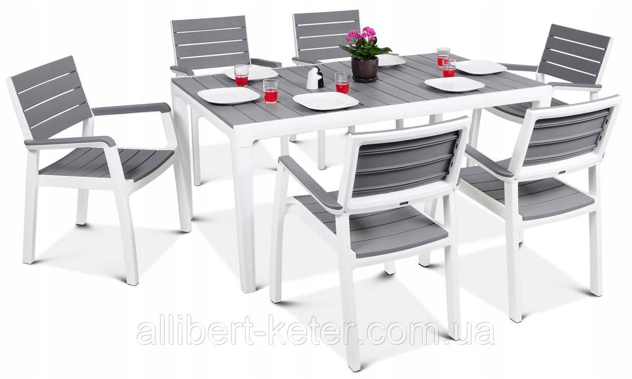 Набор садовой мебели Keter Harmony Garden Dining Set White - Light Grey ( белый - светло серый ) ( Keter )
