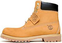 Женские ботинки Timberland Boots Yellow без меха, Тимберленд Бутс 38