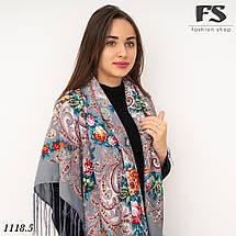 Павлопосадский шерстяной платок Мгновение, фото 2