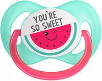 Пустышка Canpol Babies силиконовая симметричная 18+ месяцев So Cool Розовая (22 / 523_pin)