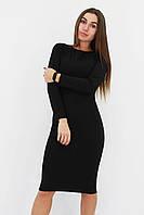 S, L   Зручне повсякденне плаття-футляр Helga, чорний