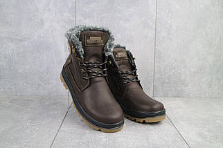 Подростковые ботинки кожаные зимние коричневые-матовые Zangak 137 кор-кр