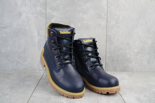 Подростковые ботинки кожаные зимние синие Monster T, фото 2